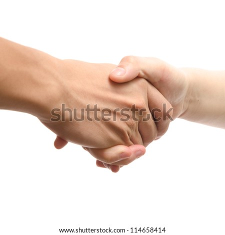 handshake isolated - stock photo