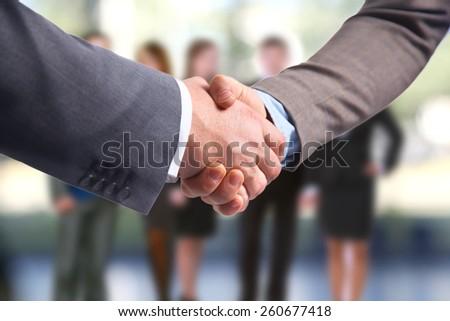 handshake isolated abd business people - stock photo