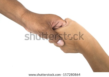 handshake isolated on white background High resolution