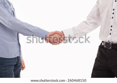 handshake men - stock photo