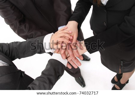 Handshake o? business people, closeup