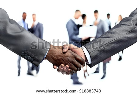handshake of business partners.a successful agreement