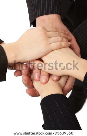 Handshake of business people, closeup