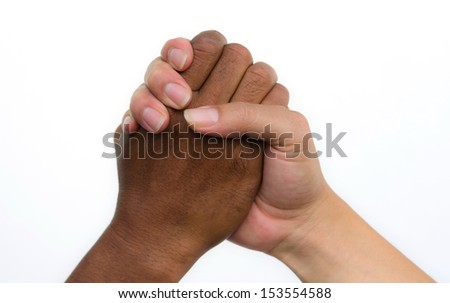 Handshake of friendship isolated on white background
