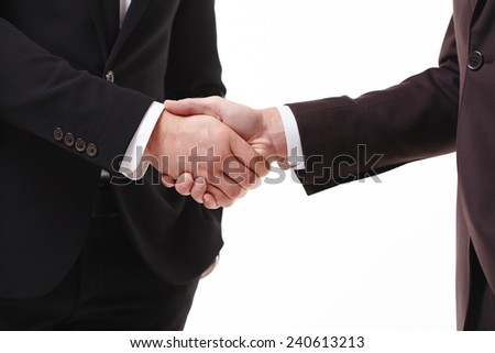 handshake of two businessmen
