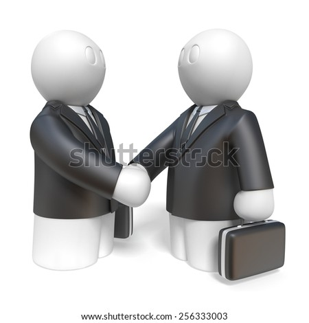handshake of two businessmen on white background, isolated