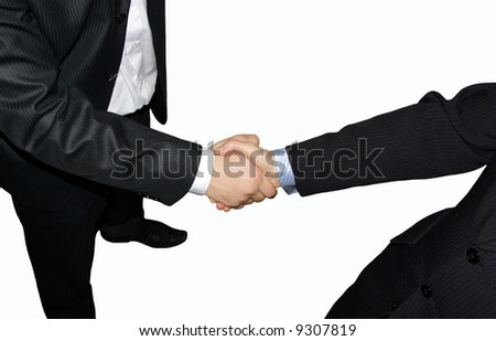 handshake on a white background