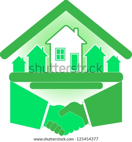 Handshake partners and successful real estate agreement.