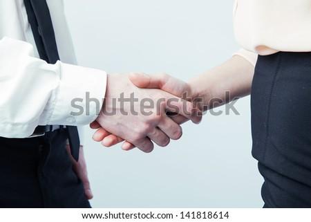 handshake successful deal - stock photo