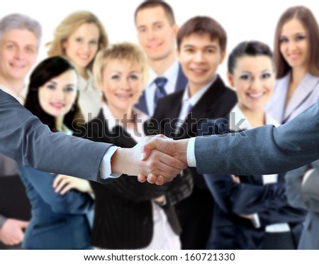 Handshake. The conclusion of the transaction - stock photo