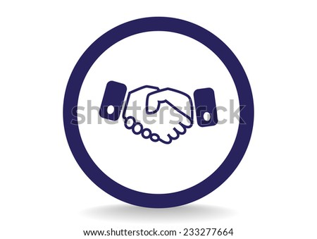 handshake, web icon.  - stock photo