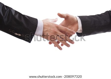 handshake with isolated clipping path  - stock photo