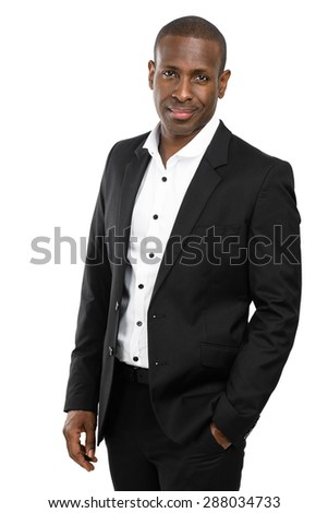 Handsome African Man In a suit.