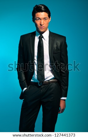 Asian man in suit