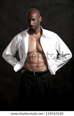 Handsome black african american man - stock photo