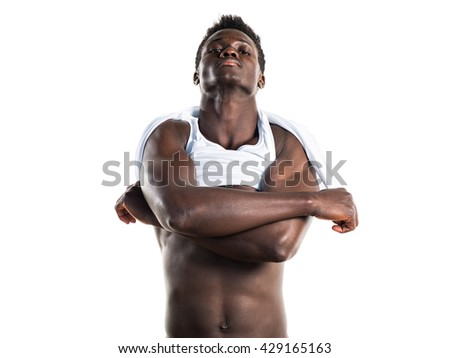 Handsome black man posing