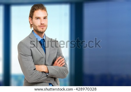 Handsome blond businessman portrait
