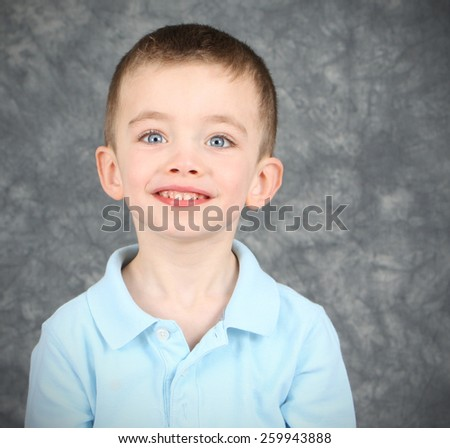 Handsome boy in studio - stock photo
