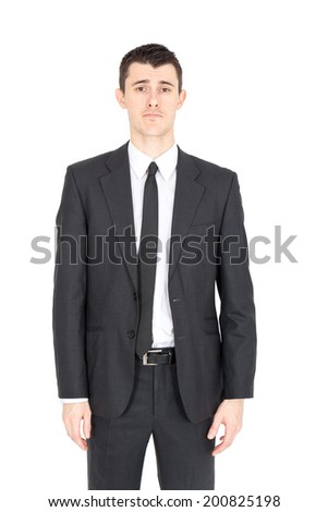 Handsome businessman doing different expressions in different sets of clothes - stock photo