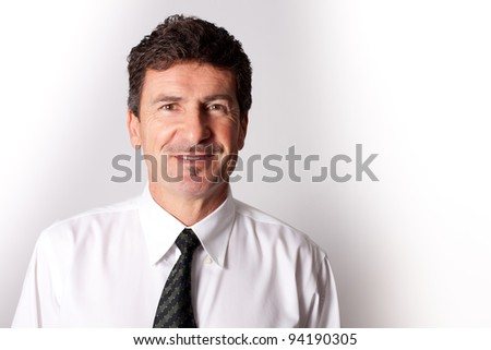 Handsome Businessman excited about an idea
