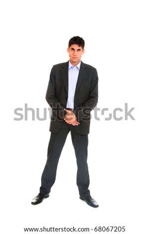 Handsome businessman. Isolated over white background