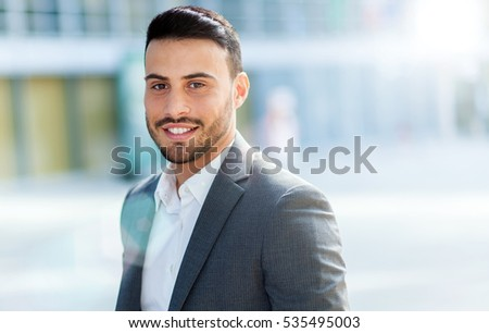 Handsome businessman outdoor
