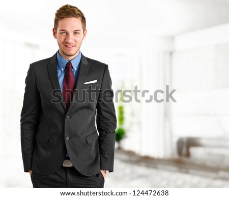 Handsome businessman portrait - stock photo