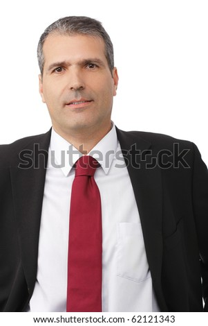 handsome businessman portrait isolated white background