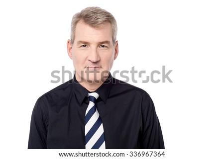 Handsome businessman posing over white