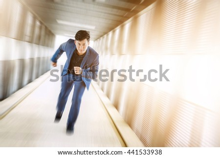 Handsome businessman starting to his career - stock photo
