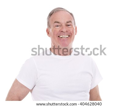 handsome caucasian man wearing summer outfit on white background - stock photo