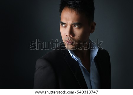 Handsome Filipino posing