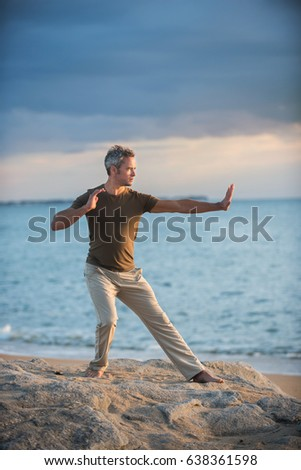 Image result for Grey haired man doing yoga