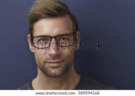 Handsome guy in spectacles, portrait