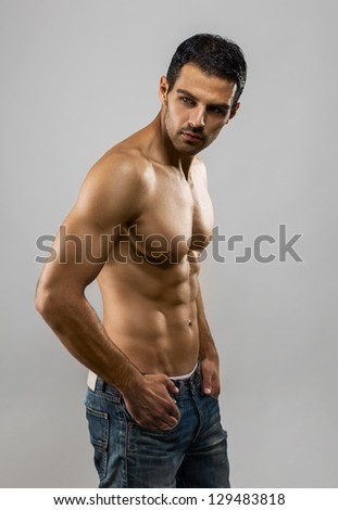 Handsome Male Model Portrait - stock photo