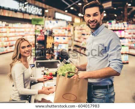 Busty grocery clerk
