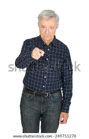 Handsome man doing different expressions in different sets of clothes: suspicion - stock photo