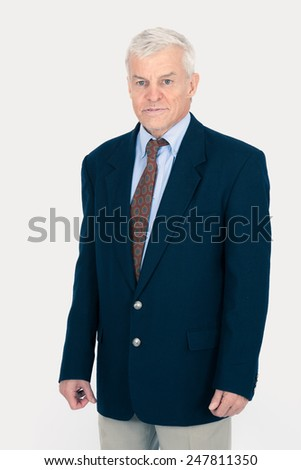 Handsome man doing different expressions in different sets of clothes: tired - stock photo