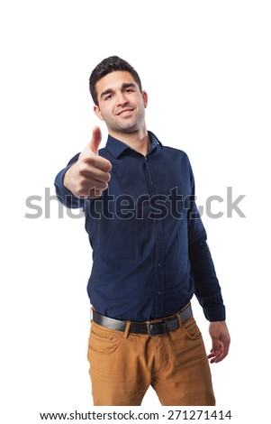 handsome man doing okay gesture - stock photo