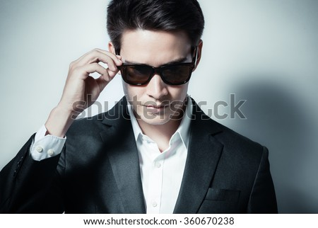 Handsome man in a suit.  - stock photo