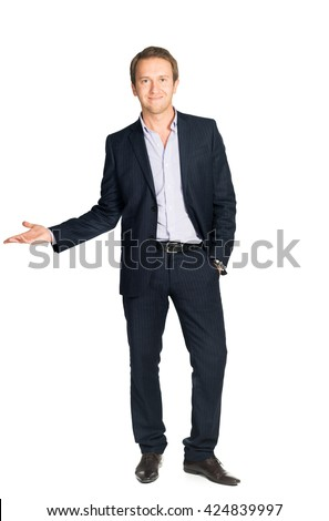 handsome man in suit isolated