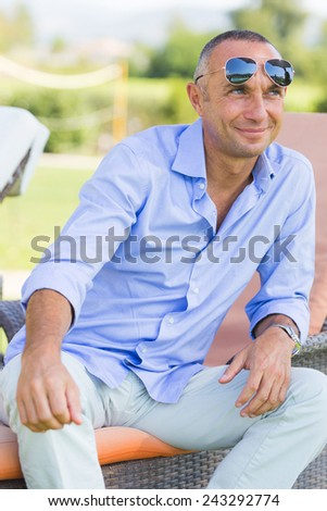 Handsome Man Outdoor - stock photo