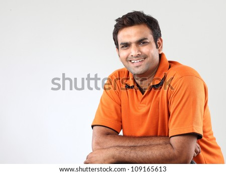 Handsome man with crossed arms