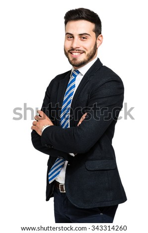 Handsome manager portrait - stock photo
