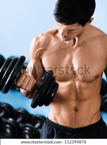 American Football Sportsman Player, Muscular Man. Strong