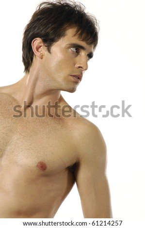Handsome sexy young man - stock photo