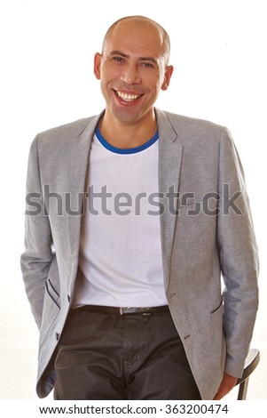 Handsome  smiling  man.  - stock photo