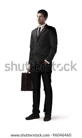 Handsome young african businessman - stock photo