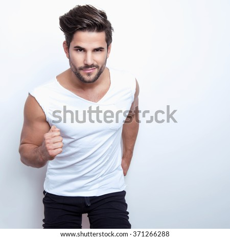 handsome young and fit man ready for workout