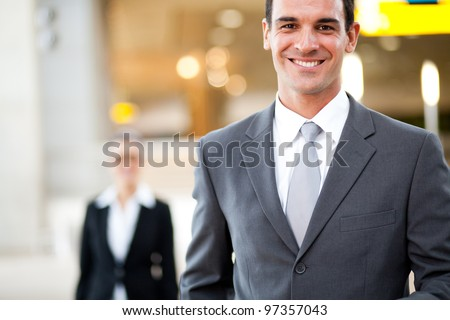 handsome young businessman portrait